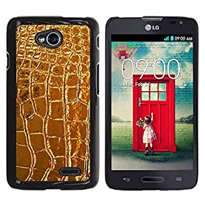 Estuche Cubierta Shell Smartphone estuche protector duro para el teléfono móvil Caso LG Optimus L70 / LS620 / D325 / MS323 / CECELL Phone case / / Leather Crocodile Luxury Luxurious /