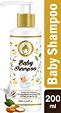 Mom & World Tear Free Baby Shampoo 200ml - With Organic Moroccan Argan Oil & Oats Extract - No SLS/Paraben