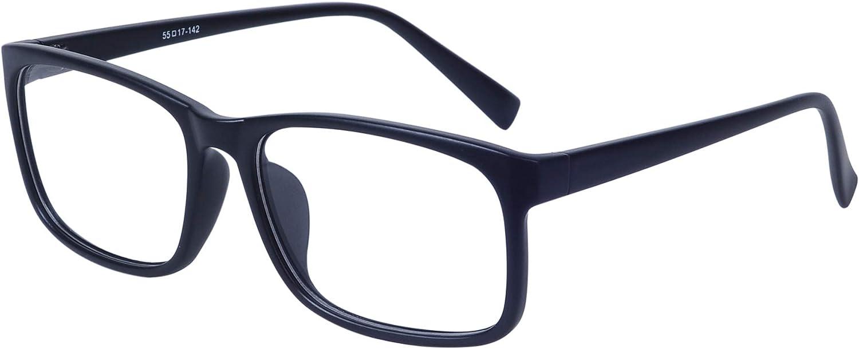 JoXiGo Brillenfassung Damen Herren Retro Rahmen Rechteckig Klare Gl/äsern Ohne St/ärke Nerd Brille mit Brillenetui