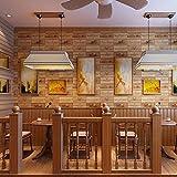 SWYKAA Retro American oak wood-grain pattern reminiscent of the letter to the restaurant and bar coffee shop waterproof wallpaper, oak wood-grain ,53*1000