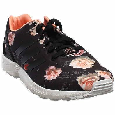 adidas zx flusso scarpe da donna nero di carbonio / semi - flash