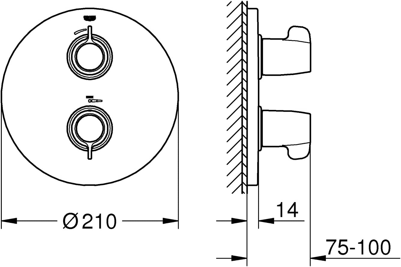 29095000 GROHE Grohtherm Special Thermostat