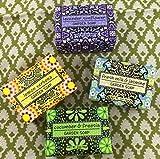 Exoliating Gardener Shea Butter Soap Sampler - Boxed Set of 4 Assorted Scents Bundle