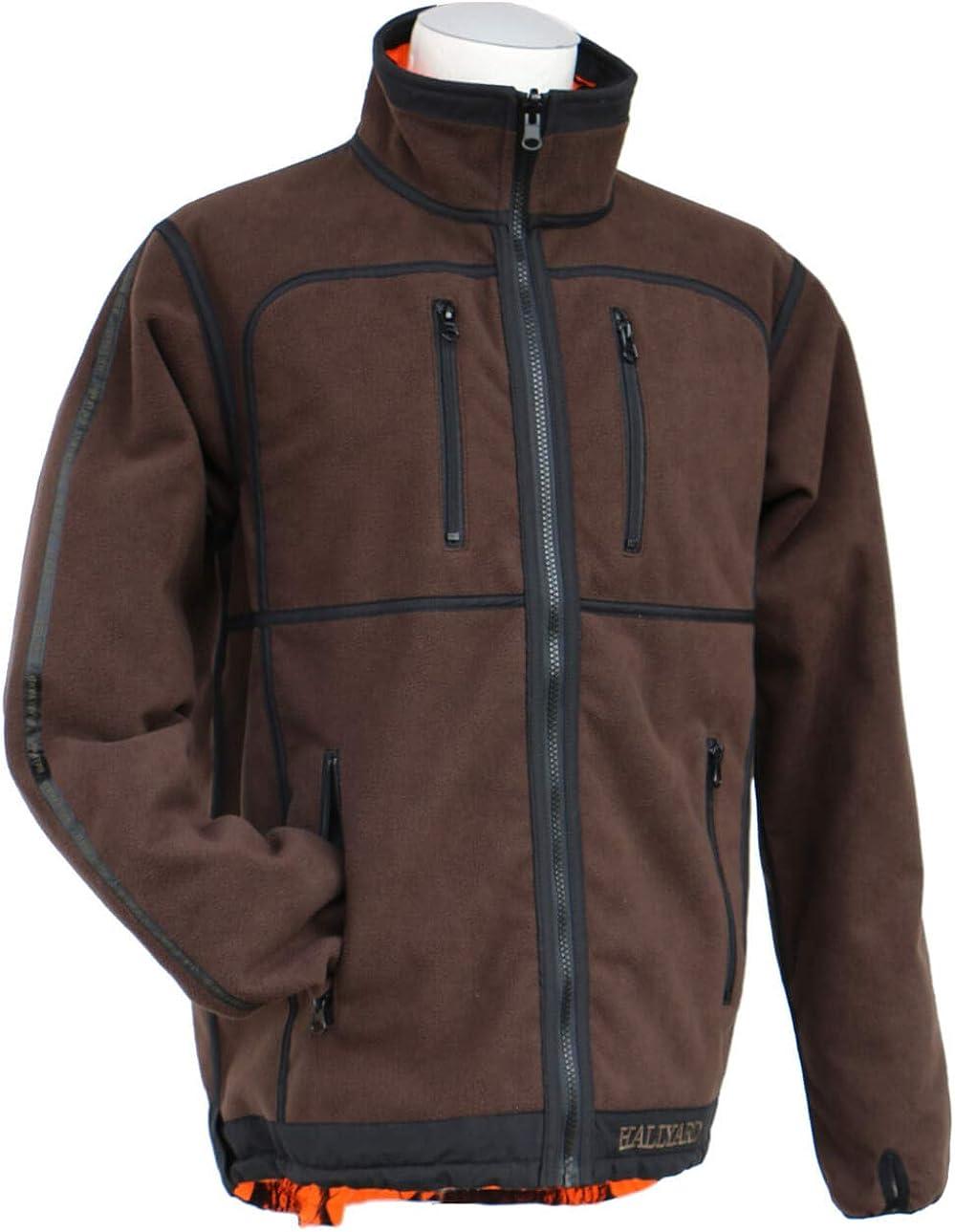 waschbar mit vielen Taschen Hallyard Strickjacke Moncton Jagdjacke Herren braun Outdoorjacke Wolljacke wasserabweisend