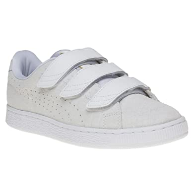 Puma Basket Strap Homme Baskets Mode Blanc