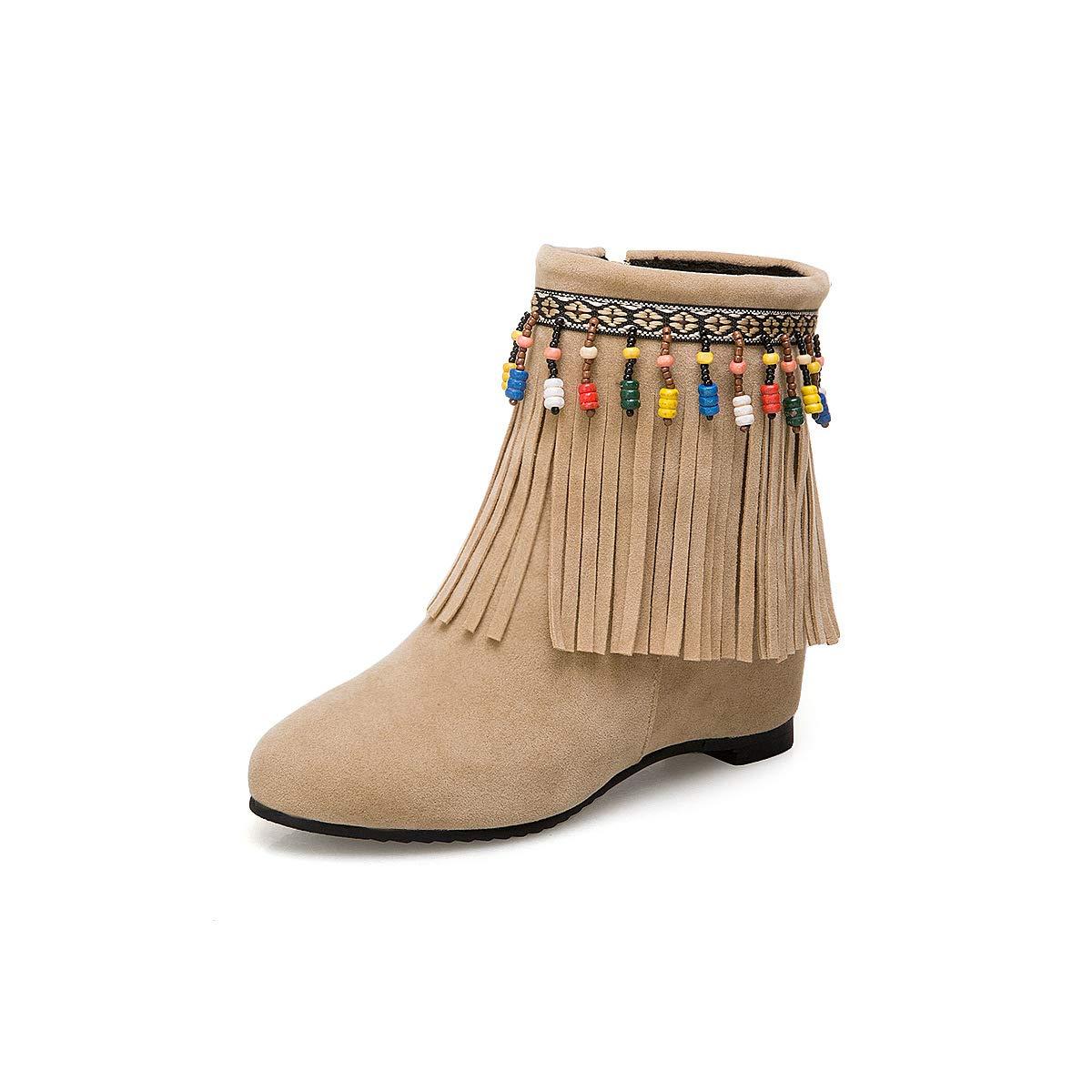 Adong Kurze Stiefel für Frauen Suede Zipper Zipper Zipper Schuhe Comfort Outdoor Nonslip Work schuhe für Frauen und Männer handgemacht C 36EU b0df08