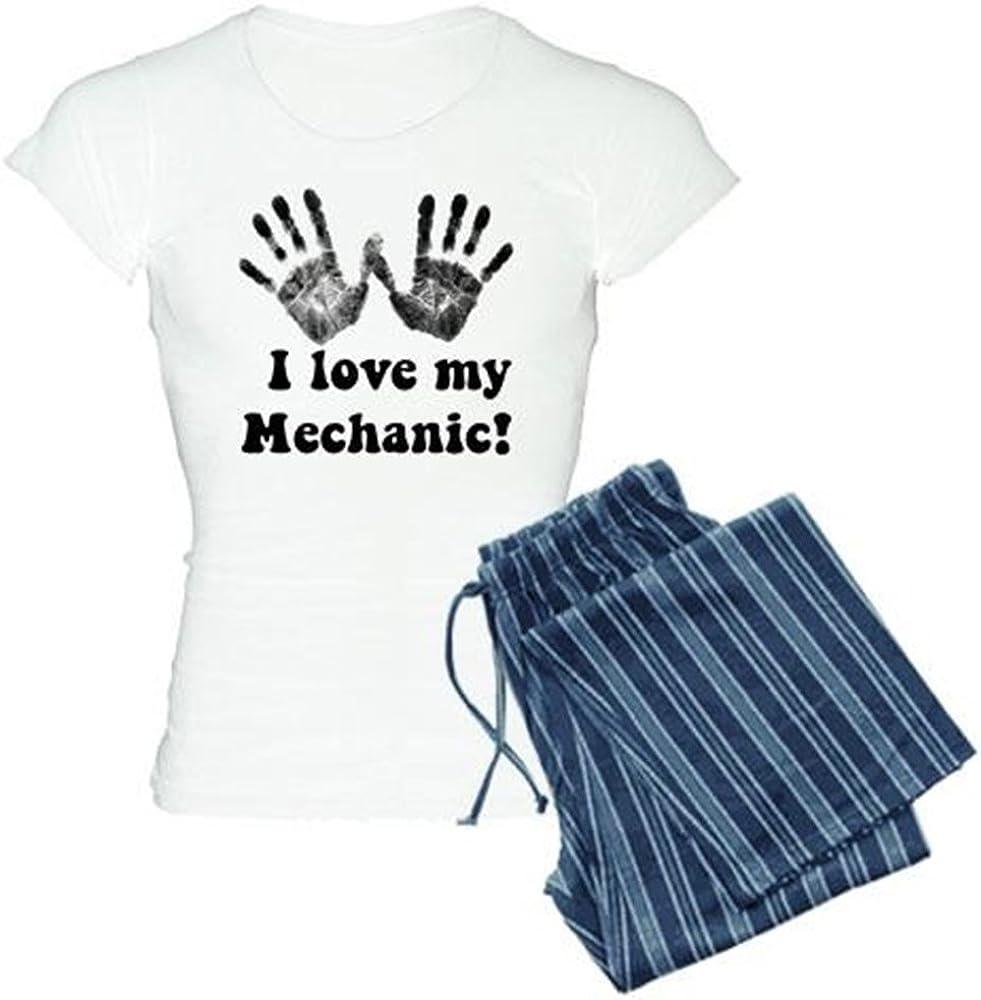 CafePress I Love My Mechanic Womens PJs