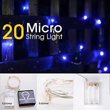 amazon com lidore micro led 20 blue string lights with timer