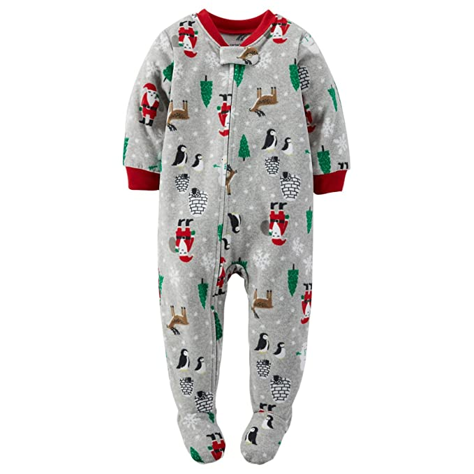 f386bc54e325 Amazon.com  Carter s Baby Boys-1-Piece Fleece PJs