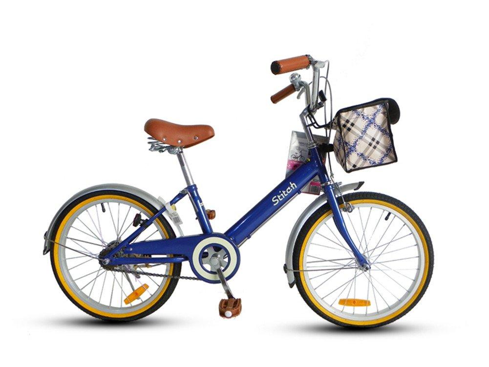 Cyfie 森 子供用自転車 バスケット付き 泥除け付き ベル付き 後ろブレーキ 女の子 8歳以上 20インチ 全8色 B01AL2X6YI ブルー ブルー