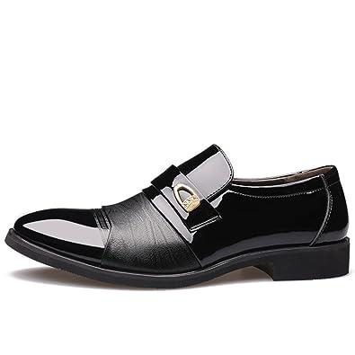 LEDLFIE Herren Echtleder Schuhe Business Lederschuhe Formelle Kleidung Hochzeit Schuhe