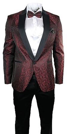 Amazon.com: zayfer para hombre estampado de cachemir traje ...