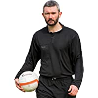 Precision Football Sports 100% Polyester Long Sleeve Referees Shirt Black/White