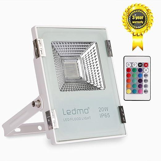 LEDMO 20W Foco LED RGB Proyector LED de colores con control remoto ...