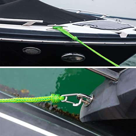 cuerdas marinas con clip inoxidable embarcaciones acu/áticas Leezo Premium kayak Cuerda trenzada de alta resistencia para motos acu/áticas cuerda de seguridad para barcos