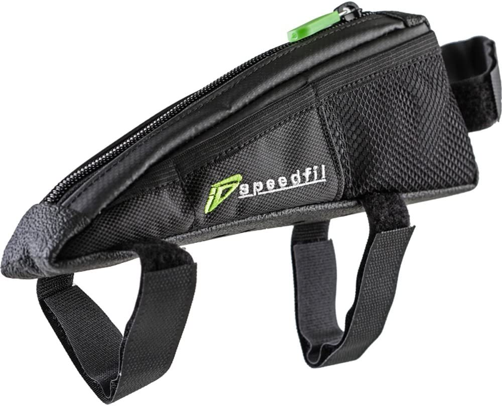 SP2 Bicycle Frame Storage Bag Bolt on or Strap to Top Tube Side Mesh Pockets