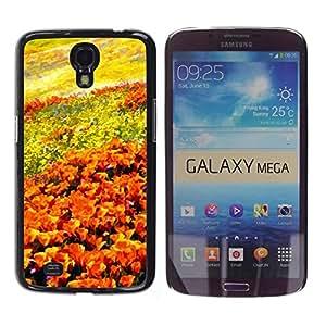 Be Good Phone Accessory // Dura Cáscara cubierta Protectora Caso Carcasa Funda de Protección para Samsung Galaxy Mega 6.3 I9200 SGH-i527 // Flowers Field Painting Art Orange Sky
