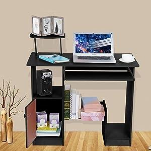 Kanpave Home Desktop Computer Desk with lockers Home Small Desk Dormitory Study Table Laptop Desk, Home/Office Desk,Bedroom & Living Room Desk,Office Desk Workstation PC Laptop Students Study Table