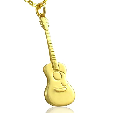 Solid 9ct gold acoustic guitar pendant necklace chain jewellery solid 9ct gold acoustic guitar pendant necklace chain jewellery gift set 20 inch aloadofball Choice Image