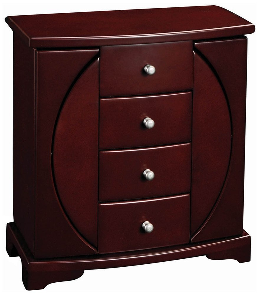 Mele And Company - Simone Mahogany Jewelry Chest Mele Companies Inc. 00318F10