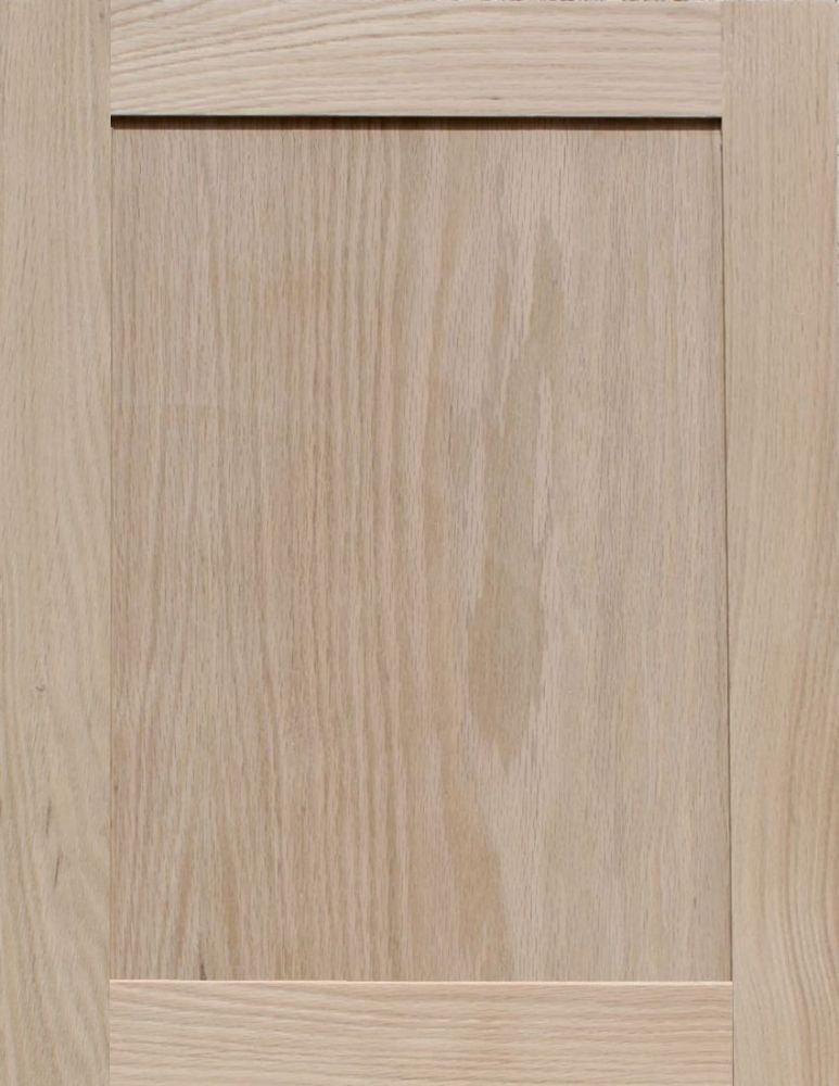 22H x 17W Unfinished Oak Shaker Cabinet Door by Kendor