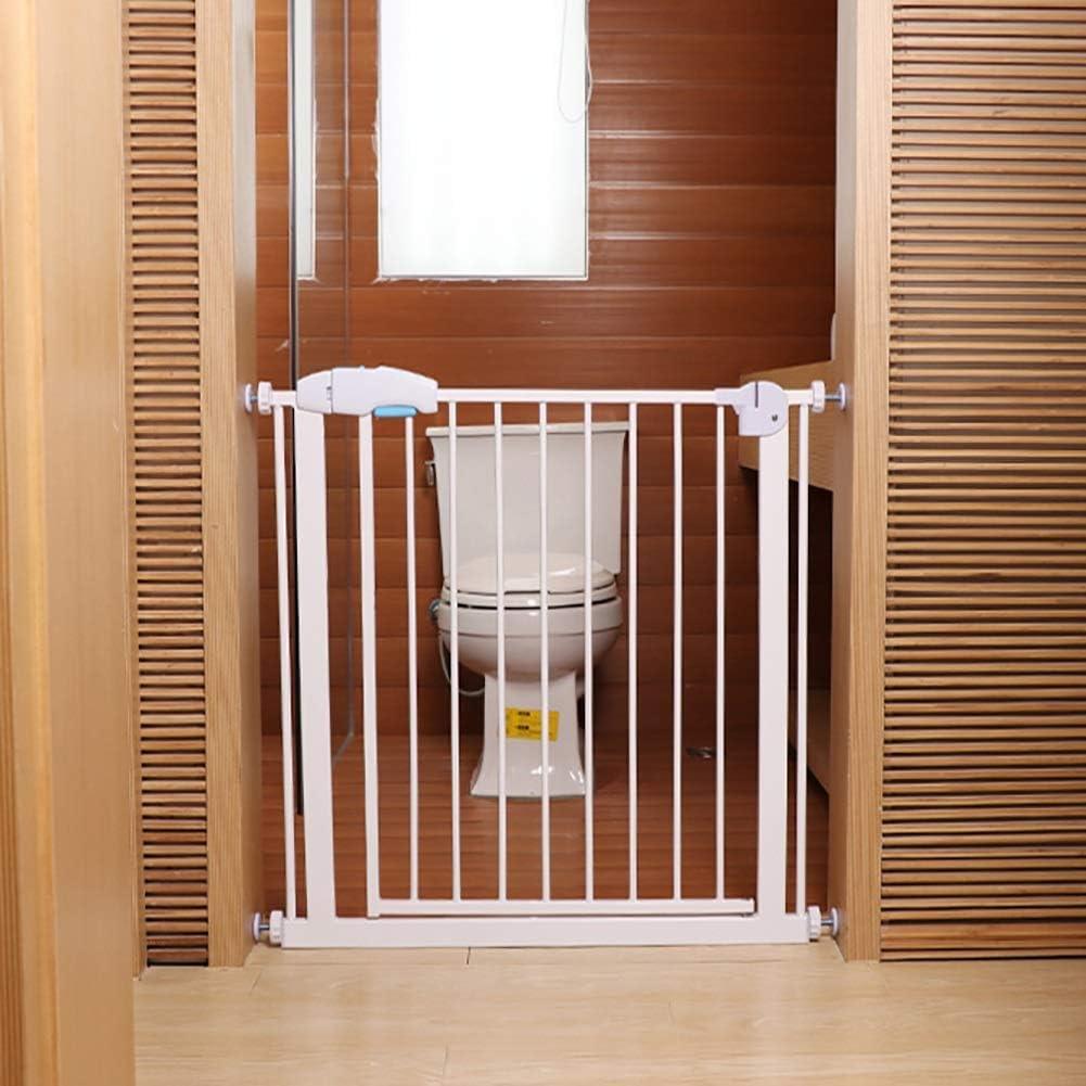 L.TSA Pet Gate con Puerta para Perros pequeños, Safety Baby Gate para escaleras Extra Alto 75 cm, Kit de Montaje a presión, Blanco: Amazon.es: Deportes y aire libre