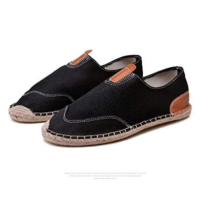 Amazon.com: Leyou Zapatos lona para hombre slip on Flats ...