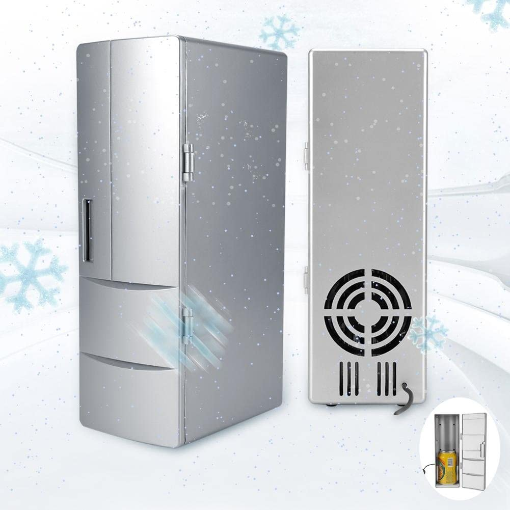Yonhchop Compact Portable Mini USB Fridge Freezer Warmer Cooler Refrigerator Equipment Compatible with Drinking//Beers//Cans