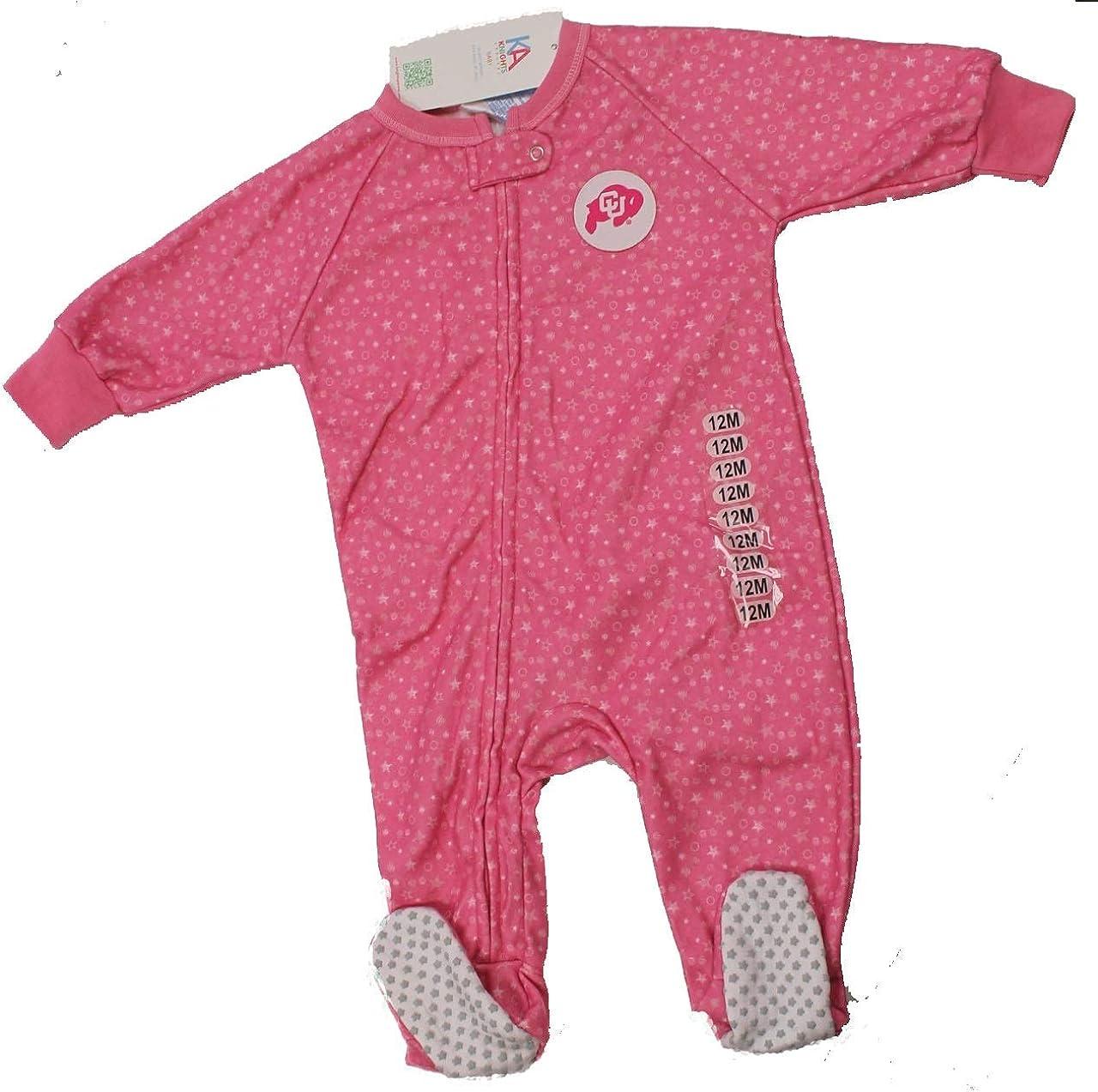 NCAA Colorado University Baby 2-Pack Fleece Footed Sleep and Play