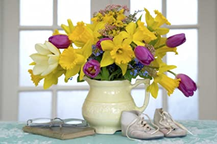 Amazon Com Spring Flower Bouquet In Vase By Don Paulson 14 X 22