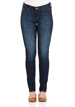Lee Damen Jeans Scarlett - Skinny Fit - Blau - Dark Worn, Größe W 25 ... 1067bef746