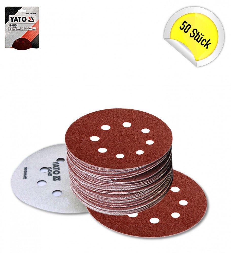 5 BIS 250 ST/ÜCK P40 Klett Schleifscheiben Haftschleifscheiben Schleifpapier Durchmesser:/Ø 125 mm;K/örnung:P40;Menge:25 St/ück