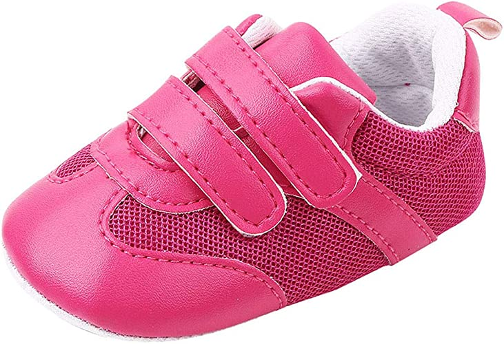 Soft Sole Newborn Baby Boy Girl Pre-Walker White Pram Shoes Trainers 0-18 Months
