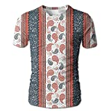 indian style blender - Edgar John Ethnic African Tribe Style Borders and Indian Paisley Men's Short Sleeve Tshirt S