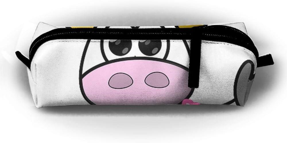Vaca Cartoon sublimación Full Print Estuche cremalleras en el diseño de sellado bolsa de maquillaje cosméticos caso bolsa de soporte para lápices de colores rollo uso en la escuela oficina arte dibujo: