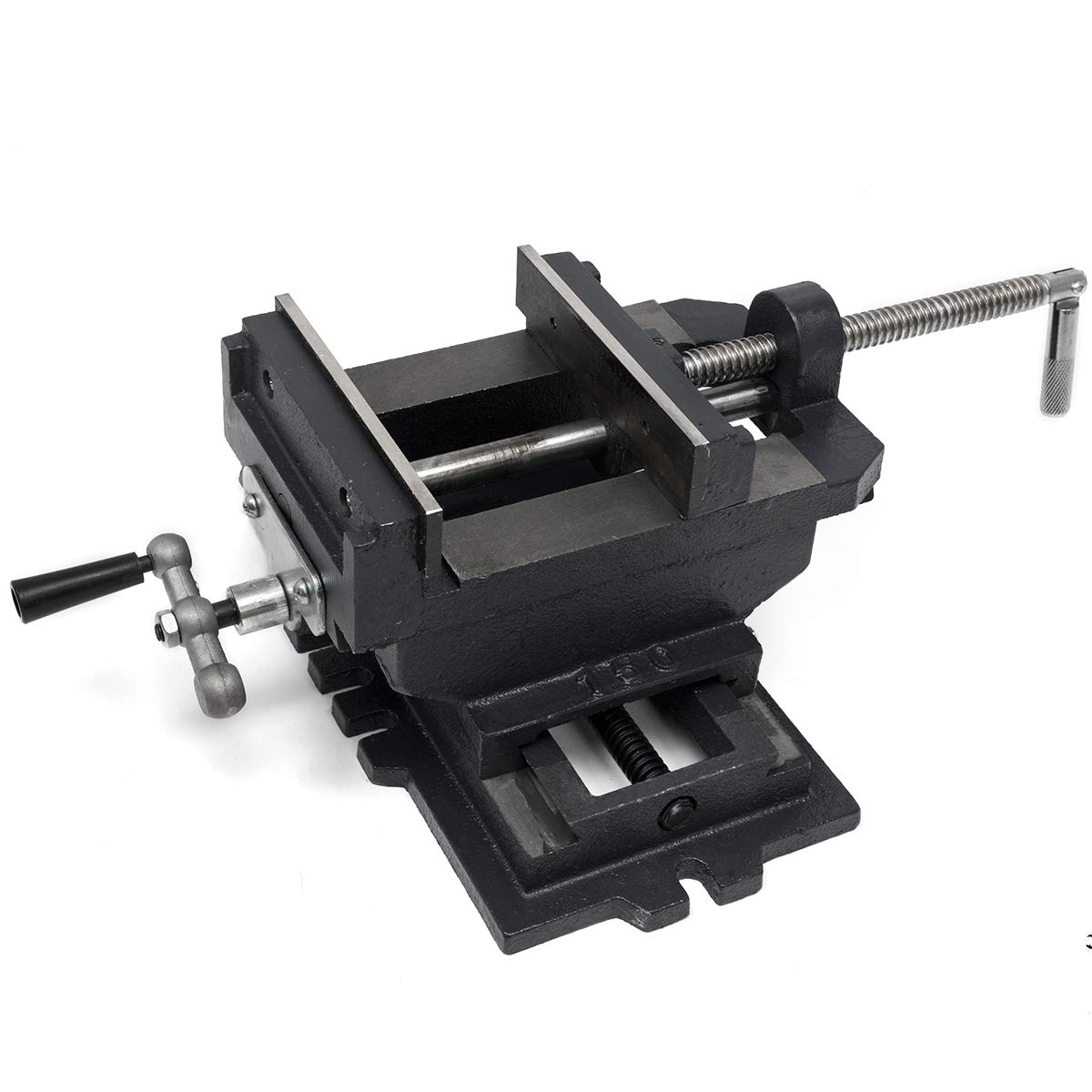 XtremepowerUS 4'' 2-Way Cross Slide Drill Press Vise Clamping Bench Top Mounting Holder