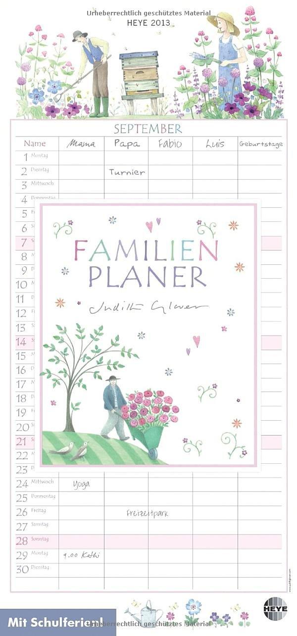 Familienplaner 2013: Mit Schulferien. 5 Spalten