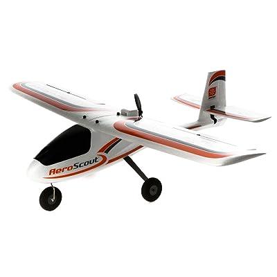 HobbyZone AeroScout RC Airplane S 1.1m RTF, HBZ3800: Toys & Games