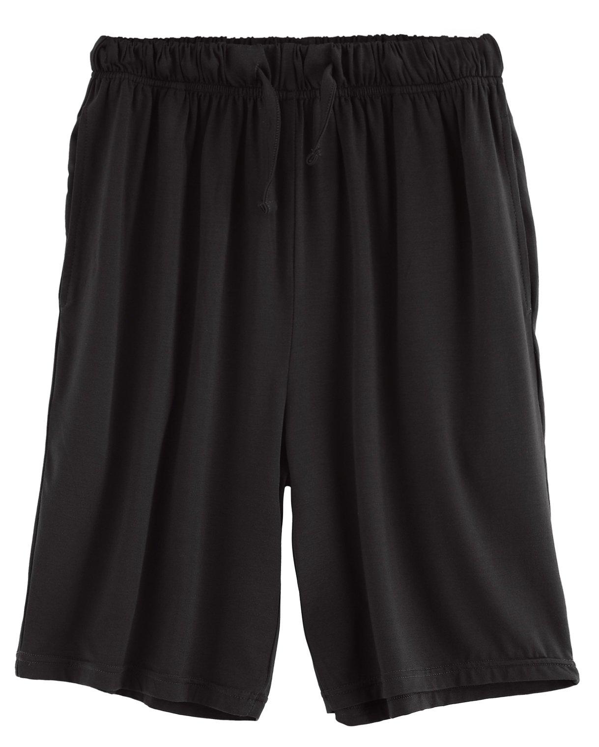 Latuza Men's Sleep Shorts Loose Lounge Shorts XXL Black