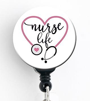Nurse lifebadge reel ID holder