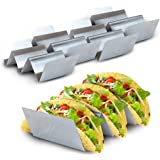 Stand Up 'n' Stuff Taco Holder 5 Pack by East World - Taco Stand/Tortilla Holder for 15 Tacos! Dishwasher Safe, Heat Resistant Taco Plates for Home or Taco Truck – Taco Holders Stainless Steel