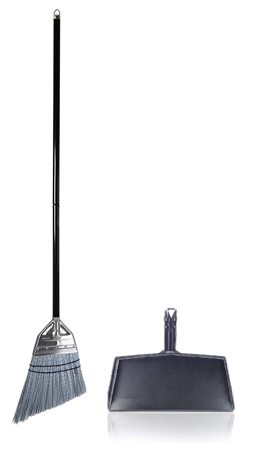 Fuller Brush Angle Broom with Clip-On Dustpan by Fuller Brush