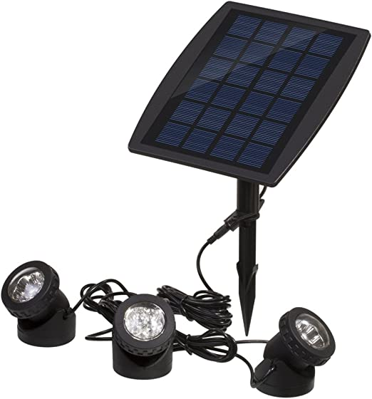 Solar Power 6 LED Underwater Spot Light Outdoor Garden Lawn Lamp Bulb Waterproof
