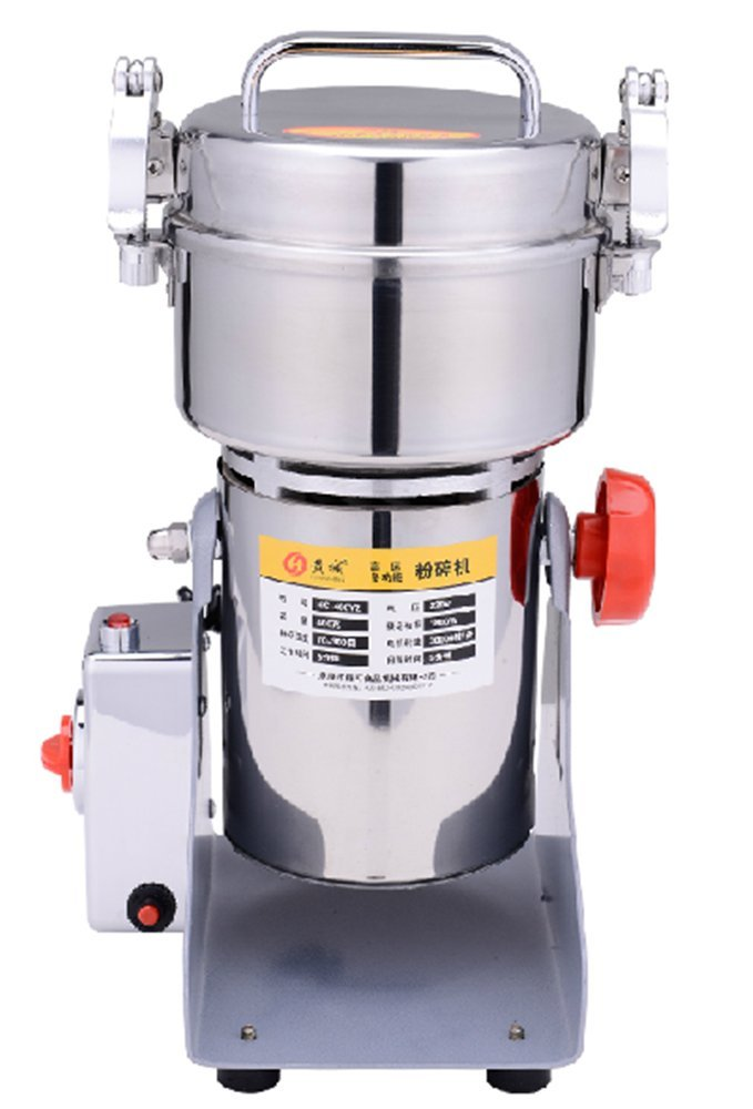 400g stainless steel high-speed grain grinder mill family medicial Cereal Grain mill machine spice Herb Grinder grain grinder pulverizer 110v/220v gift for mom, wife