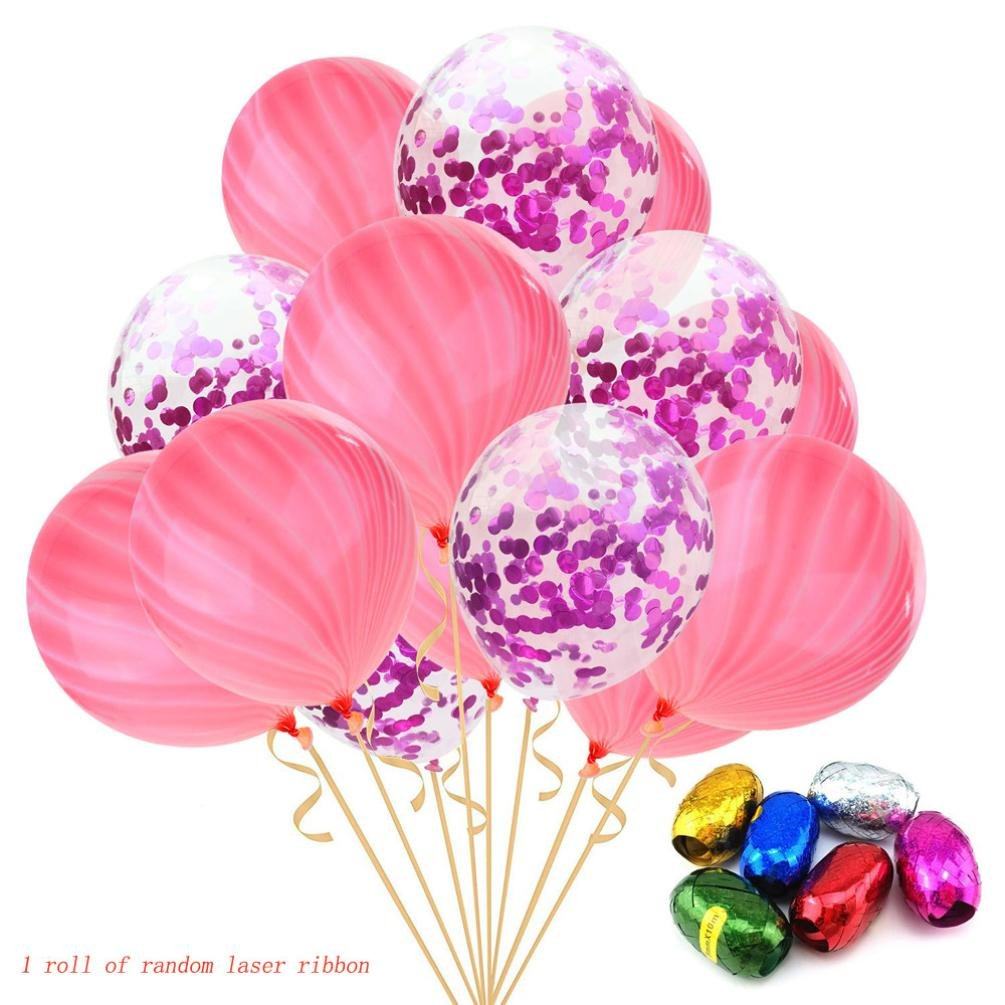 Amazon.com: LiPing 15PCS Marble Agate Latex 12\'\' Birthday Wedding ...
