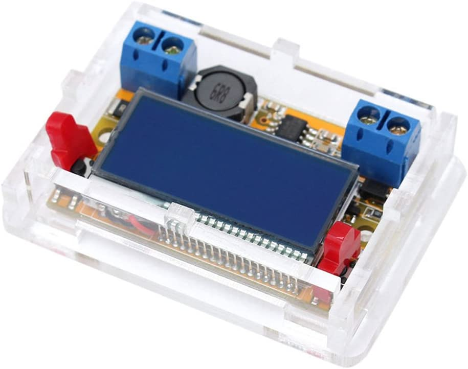 Onyehn DC-DC Adjustable Buck Voltage Converter Step Down Voltage Reducer Regulator Power Module 3A 5-23V to 0-16.5V Dual Volt Amp LCD Display with Transparent Shell