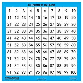 Amazon.com: ETA hand2mind Laminated Hundred Boards, Set of