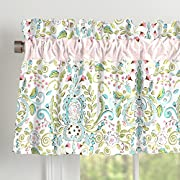 Carousel Designs Love Bird Damask Window Valance Rod Pocket