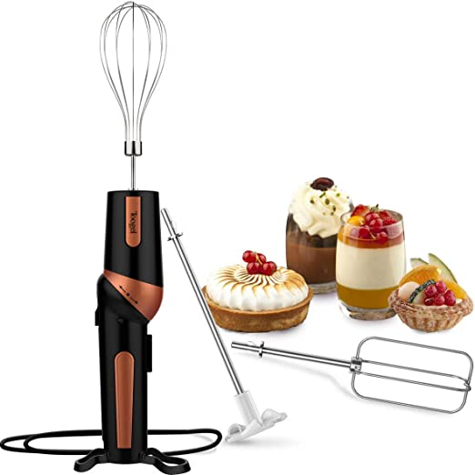 Mini Hand Mixer Set 5 Piece Portable Cordless Whipper Mixer Blender Frother NorPRO Mini Mixer Set .