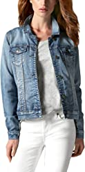 Buffalo David Bitton Womens Knit Stretch Denim Jean Jacket